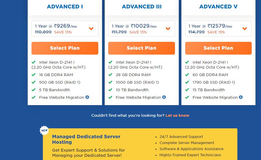 Hostgator Dedicated hosting server pricing